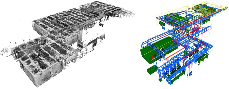 Point cloud bim mep